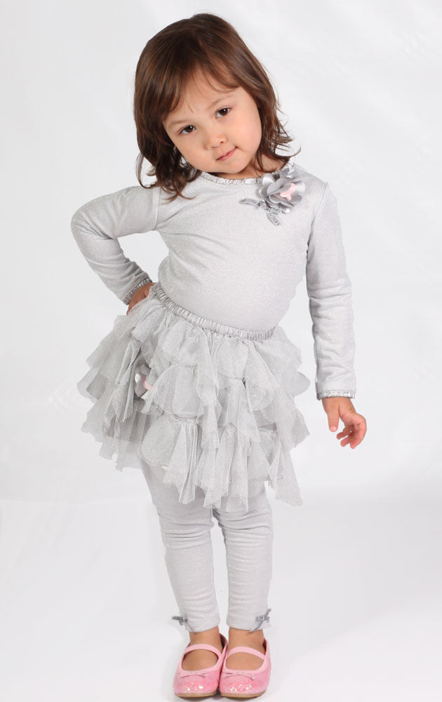 Biscotti Sparkly Silver Top Sz 2t Only Bunnies Picnic