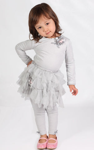 Biscotti Sparkly Silver Top sz 2T only