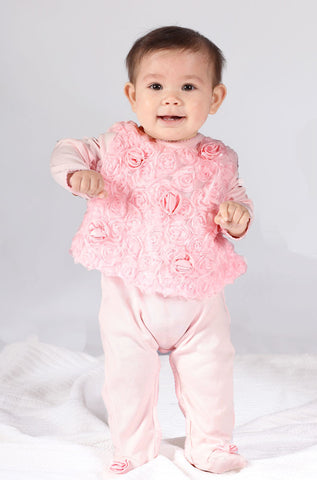 Biscotti Precious Rose L/S Footie for Special Occasions