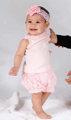 Biscotti Precious Rose Top with Bloomers sz 9 mos only