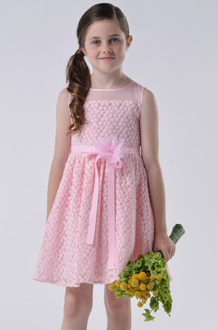 Blush by Us Angels Pink Daisy Lace Dress sz 4 & 7 & 8 & 14 only
