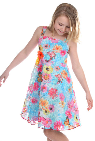 Cach Cach Palm Beach Floral Sweetheart Dress
