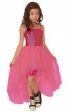 Ooh La La Couture WOW Sequin Kylee High Low Dress in Candy Pink sz 4 only