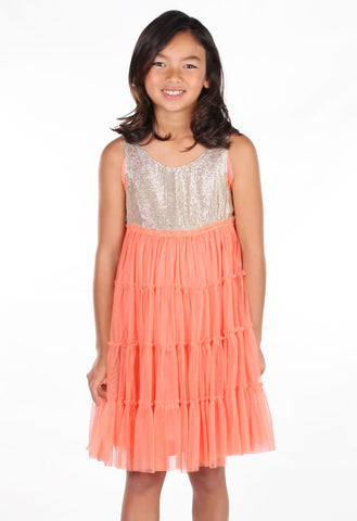 Cupcakes and Pastries Coral Glimmer Dress