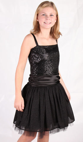 Dolls & Divas Black Sequin Dress With or Without Matching Bolero