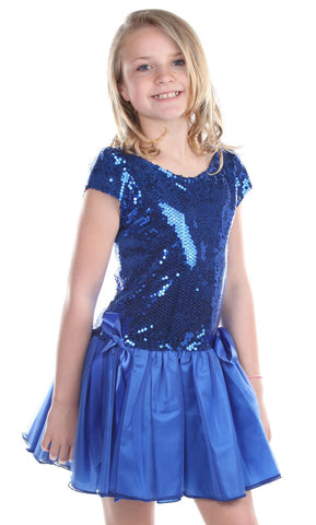 Dolls & Divas Blue Sequin Tutu sz 24 mos & 2T only