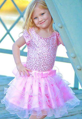 Dolls & Divas Lucie Pink Tutu with Sequin Top sz 24m 2T & 3T