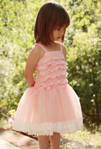 Dolly Lace Tutu Dress in Pink Doll sz & 0-6 mos only