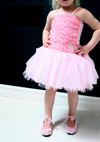 Dolly Rosette Tutu Dress in Pink sz NB & 6-8 year only