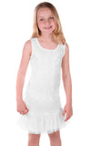 ElisaB Ivory Lights Scalloped Sequin Mermaid Dress sz 10