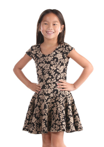 Five Loaves Two Fish Savannah Dress in Black & Tan