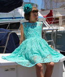 Five Loaves Two Fish Cool Mint Lace Dress sz 8 only