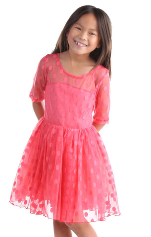 Five Loaves Two Fish Maiden of the West Dress in Candy Coral sz 12 14 16