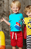 Lemon Loves Lime Cargo Shorts in Red for Boys sz 3 only