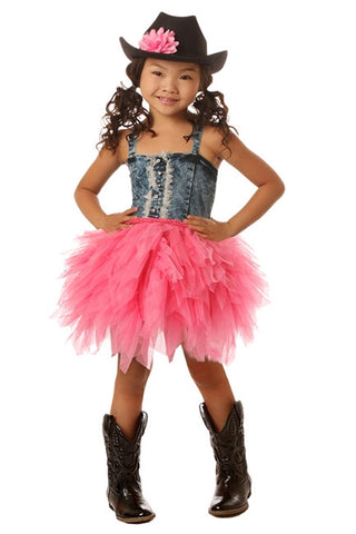Ooh La La Couture Denim Tutu Dress in Candy Pink sz 10 only
