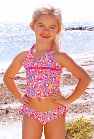 Hello Kitty Turqs and Caicos Tankini sz 2T & 3T