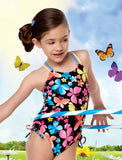 Malibu Girl Hula Star Dancing Butterfly Swimsuit sz 2T only