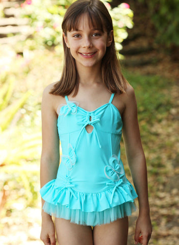 Isobella and Chloe Ocean Plunge Butterfly Swimsuit size 2T only