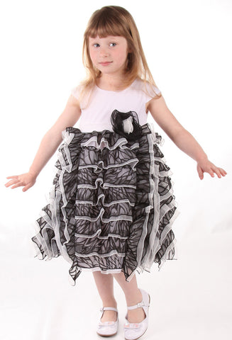 Isobella and Chloe Dancing Queen Black & White Dress for Babies & Toddlers