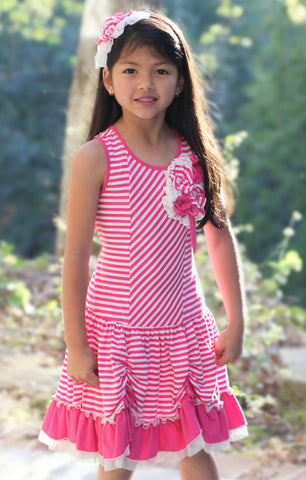 Isobella and Chloe Candyland Knit Dress in Bubblegum Pink sz 5 only