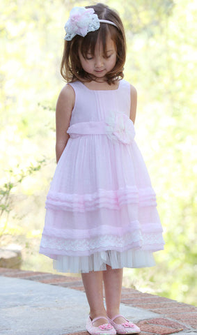 Isobella and Chloe Chamomile Kisses Dress sz 2T only