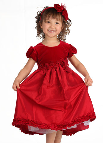 Isobella and Chloe Monet Red Dress for Babies & Toddlers sizes 9m and 4T only
