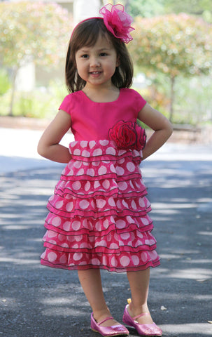 Isobella and Chloe Razzle Berry Empire Waist Dress for Babies & Toddlers
