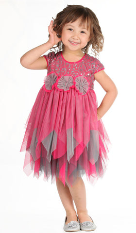 Isobella and Chloe Bella Bow Hanky Hem Tutu