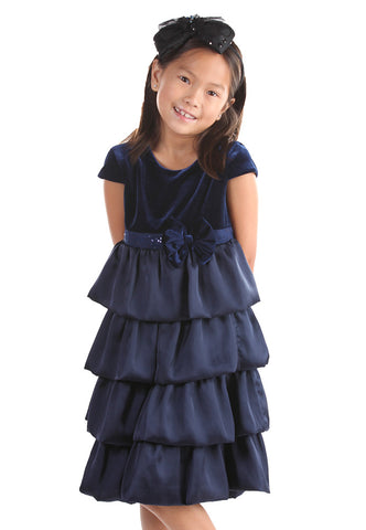 Isobella and Chloe Blueberry Bliss Dress