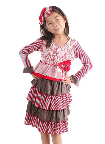 Isobella and Chloe Peppermint Latte Dress