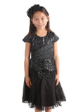 Isobella and Chloe Madison Ave Dress in Black