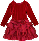 Isobella and Chloe Ruby Kiss Dropwaist Dress Great for Holidays and Christmas sz 14 only