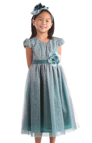Isobella and Chloe Winter Sparkle Empire Waist Dress
