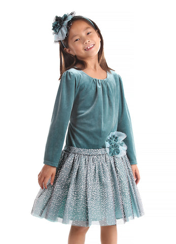 Isobella and Chloe Winter Sparkle Dropwaist Dress 2T 4T 4 & 5 only