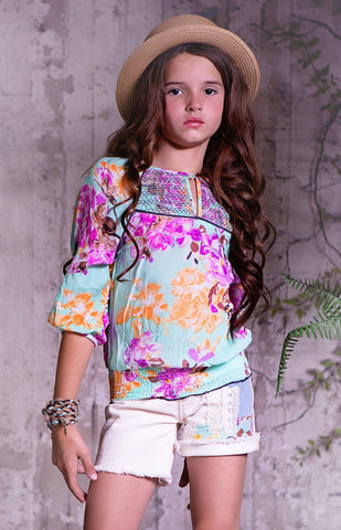 Jak and Peppar Adelle Peasant Top sz 4 & 6 only