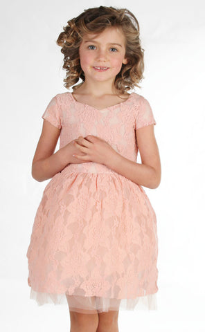 Joyfolie Mia Joy Josefine Dress in Blush Pink sz 4 only