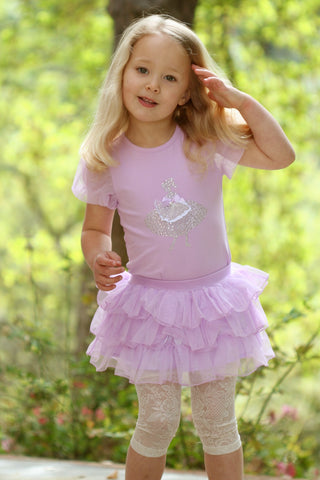 Maeli Rose Tiered Tutu Skirt with Lace leggings sz 12m & 18m