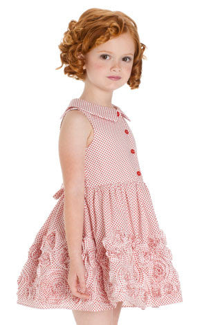 Biscotti Lots of Dots Sweet Red Polka Dot Dress for Girls