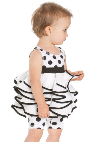 Kate Mack Opposites Attract B/W Tunic & Leggings Set for Babies & Toddlers
