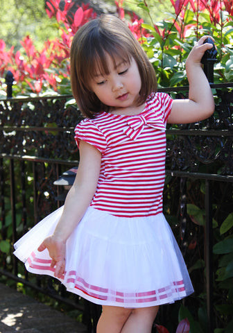Kate Mack Eau So French Striped Tutu Dress sz 9m  only
