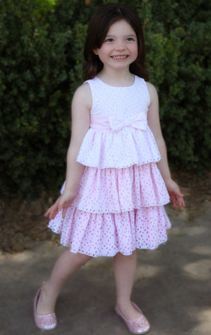 Biscotti Eyelet Blush Dress sz 9 mos & 24 mos