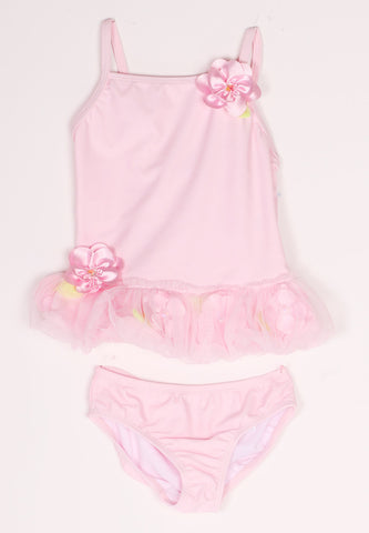Kate Mack Secret Garden Pink Flower Tankini for Babies & Toddlers sz 12m only