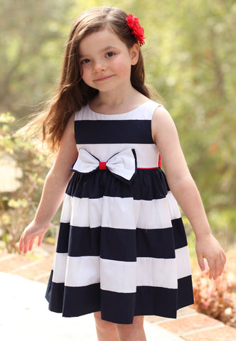 Biscotti She's Got Stripes Navy Striped Dress for Babies & Toddlers