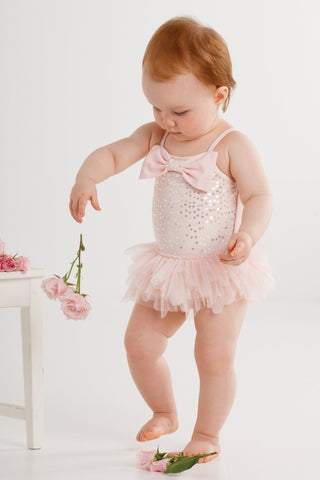 Kate Mack Twinkle Toes Sparkly Swimsuit UPF 50+ sz 4T 4 & 5 only
