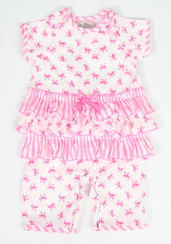 Laura Dare Sweet Bowtique Ruffled Romper for Babies sz 6m & 12 mos only