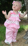 Laura Dare Sweet Bowtique Ruffled Pajamas sz 2T & 4T only