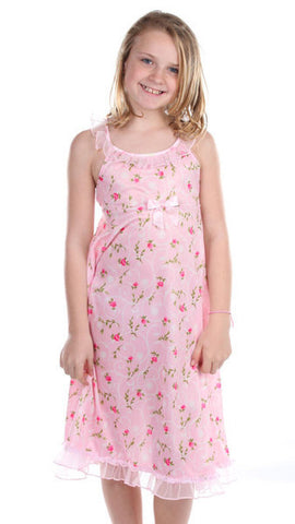Laura Dare Sweet Rose Ruffled Strappy Night Gown