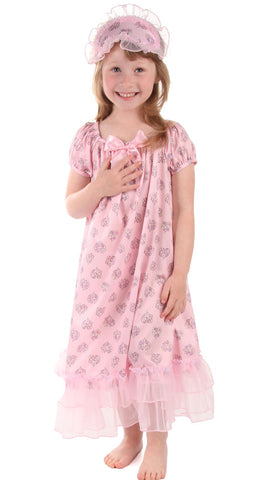 Laura Dare Sweet Hearts Cap Sleeve Nightgown sz 2T & 3T only