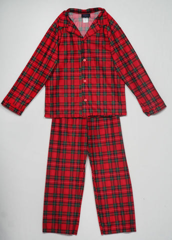 Laura Dare/Tom Jerry Holiday Christmas Plaid Button-Down Pajamas - sz 12 only
