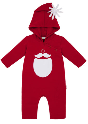 Le Top Santa's Mustache & Beard Coverall for Babies sz 3m only